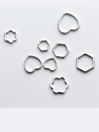 925 Sterling Silver With Platinum Plated Classic Flower Clasps