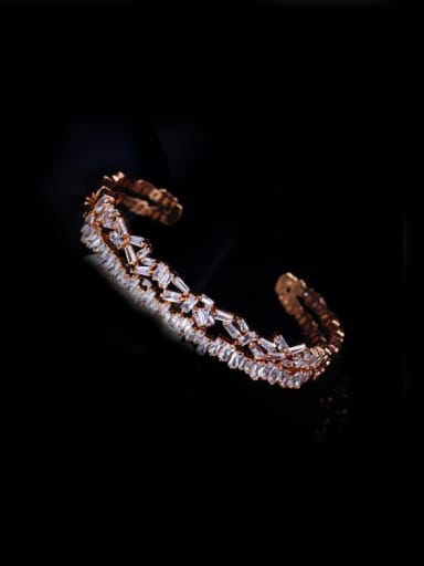 Fashion Temperament AAA Zircon Opening Bangle