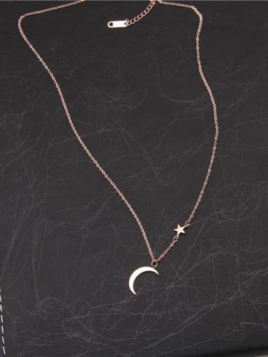 Sweet Korean Style Moon Necklace