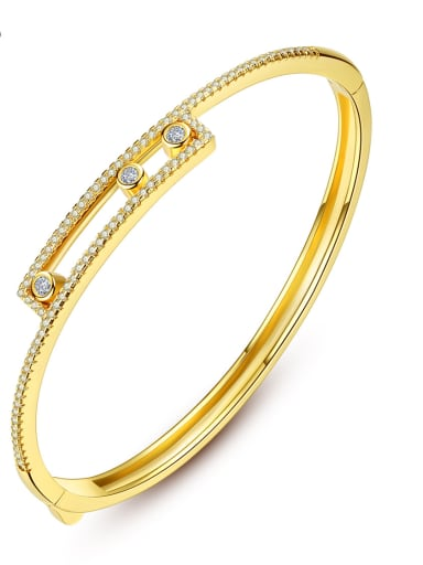 Copper With Gold Plated Simplistic Round Bangles