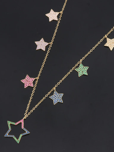 Copper With Rhinestone Fashion Star Beaded Necklaces