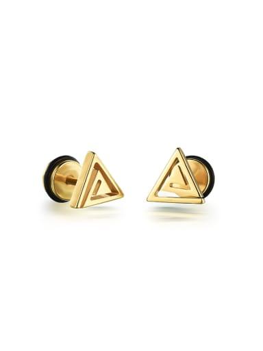Simple Tiny Triangle Titanium Stud Earrings