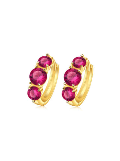 Copper Alloy 24K Gold Plated Fashion Artificial Zircon Clip clip on earring