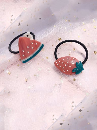 Rubber Band With Cellulose Acetate Cute Fruit Hair Ropes