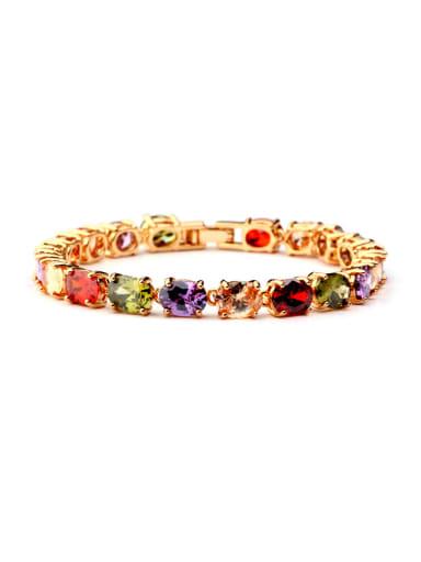 Bronze inlaid AAA colorful Zircon Bracelet