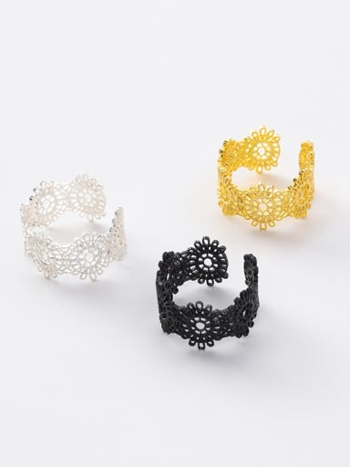 Alloy With Gold Plated Trendy Retro lace Ring Bracelet