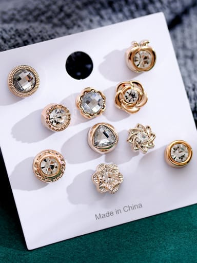 Alloy With Gold Plated Trendy Flower Lapel Pins/Button Brooch