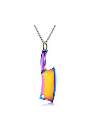 Creative Little Knife Pendant Titanium Necklace