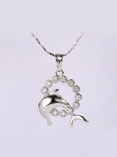 Fashion Zircon Little Dolphin Necklace