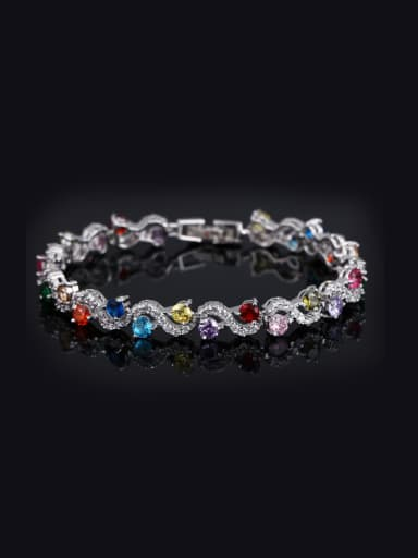 Color Zircon Copper Bracelet