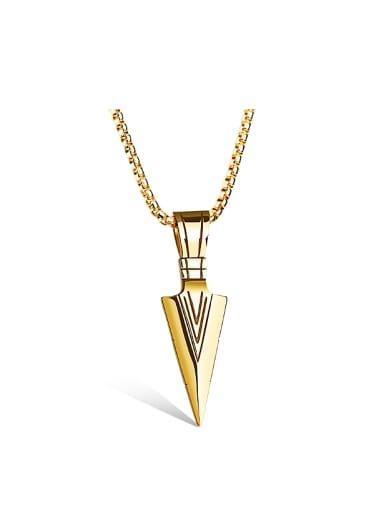 Personalized Spearhead Pendant Titanium Necklace