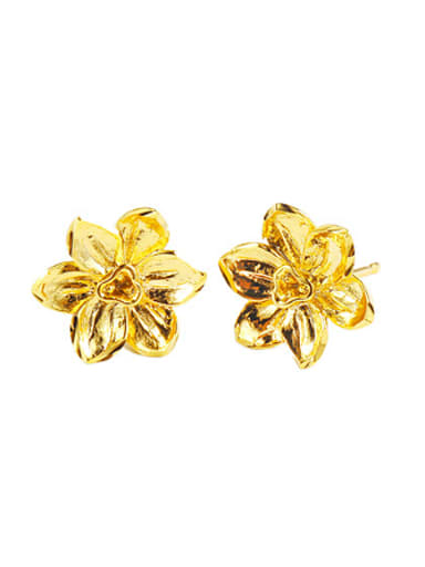 Ethnic style Flowery Stud Earrings