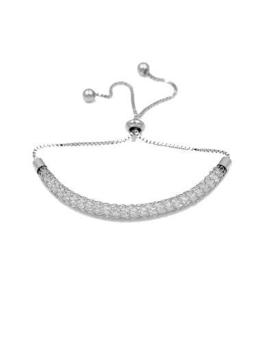 Copper With Cubic Zirconia  Fashion adjustable Bracelets