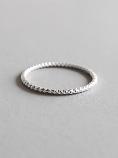 Pure silver fashion car floral ring ring tail ring