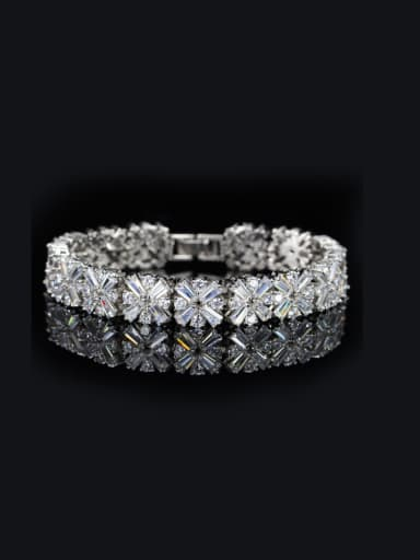 Luxury Shining Zircon Wedding Bracelet