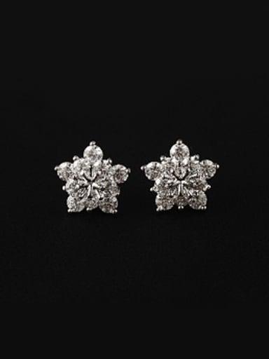 Fashion Flower Zircon Stud Earrings