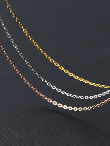 925 Sterling Silver With 18k Gold Plated Classic Chain