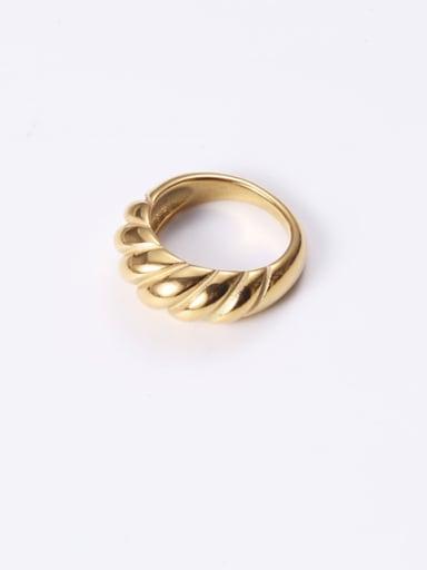 Titanium With Gold Plated Simplistic Diamond  Smooth Midi Rings