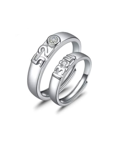 925 Sterling Silver With Cubic Zirconia  Simplistic Insect 520-1314-lovers  Rings