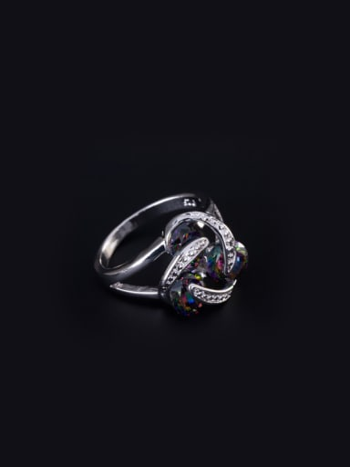Personality Zircon Copper Statement Ring