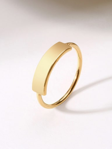 Copper With 18k Gold Plated Trendy Rings
