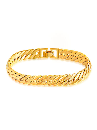 18K Gold Plated Simple Chain Bracelet