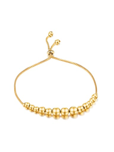 Classical Little Beads Gold Plated Bracelet