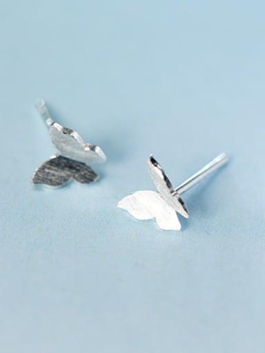 All-match Butterfly Shaped S925 Silver S925 Silver Stud Earrings