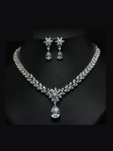 Luxury Zircon Two Pieces Set