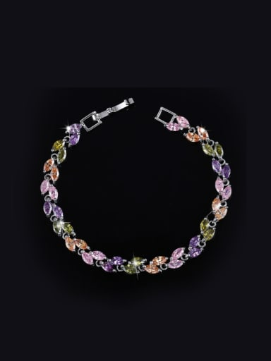 Fashion AAA Zircon Leave-shape Bracelet