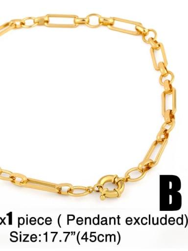 Chain B (excluding letters) Copper Cubic Zirconia Rround Letter Minimalist Pendant