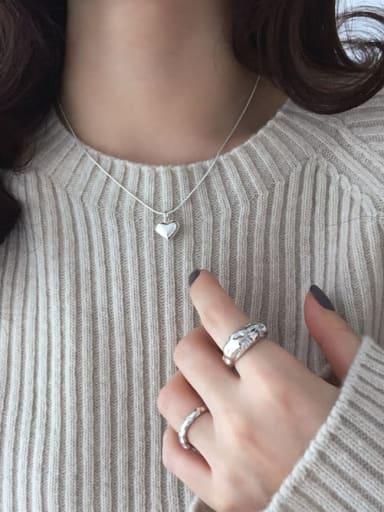 925 Sterling Silver Heart Minimalist Locket Necklace