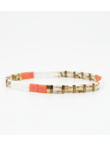 Bohemian trendy fashion beaded TILA rice bead women's bracelet
