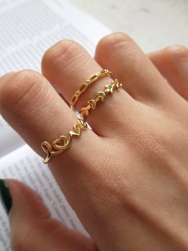 925 Sterling Silver Letter Minimalist Free Size Midi Ring