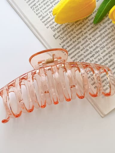Orange 11cm Alloy Resin Minimalist Geometric  Jaw Hair Claw