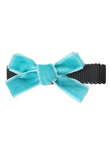 3 lake blue Alloy Fabric Cute Bowknot  Multi Color Hair Barrette