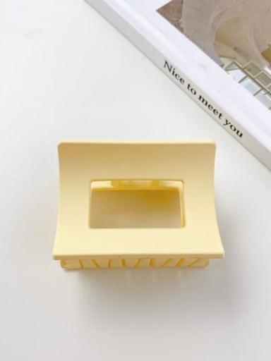 2 rectangular 6.2cm Alloy Resin Minimalist Geometric  Jaw Hair Claw