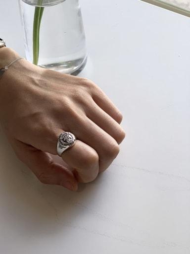 925 Sterling Silver Eye Vintage Signet Ring