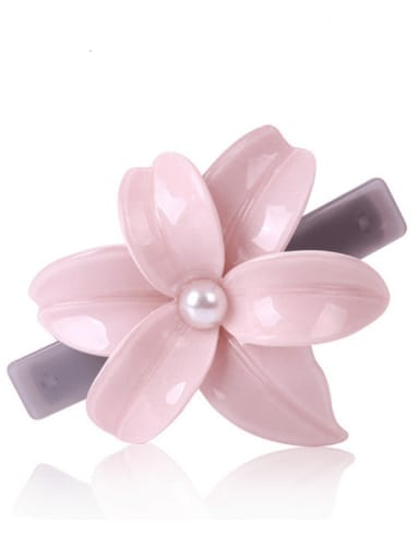 Alloy Cellulose Acetate Camellia  Spring clip Hair Pin