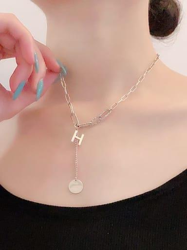 925 Sterling Silver Letter Vintage Lariat Necklace