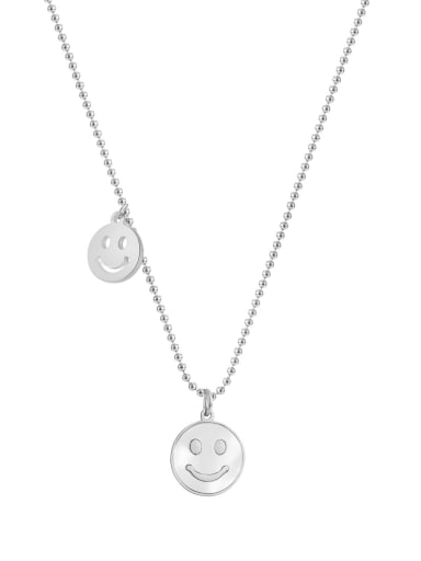 Titanium Steel Shell Smiley Minimalist Necklace