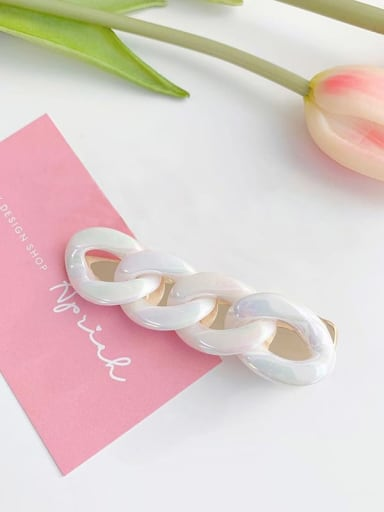 Laser cream Alloy Acrylic Trend Geometric Laser Transparency gripper  Hair Barrette
