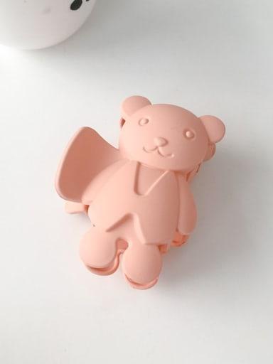 Pink 8.5cm Alloy Acrylic Cute Bear  Jaw Hair Claw