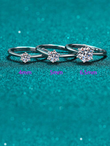925 Sterling Silver Round Ring