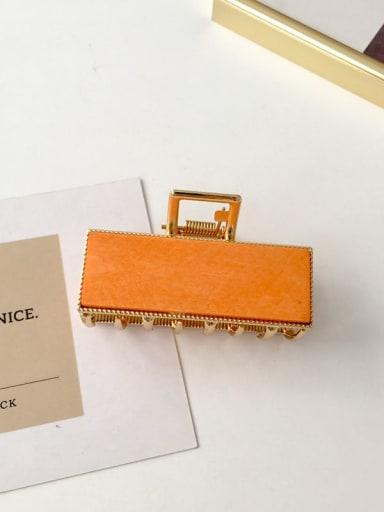 Orange wood Alloy Acrylic Vintage Geometric  Jaw Hair Claw