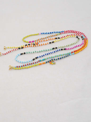 Stainless steel Multi Color TOHAO  Bead  Bohemia Hand-woven Necklace