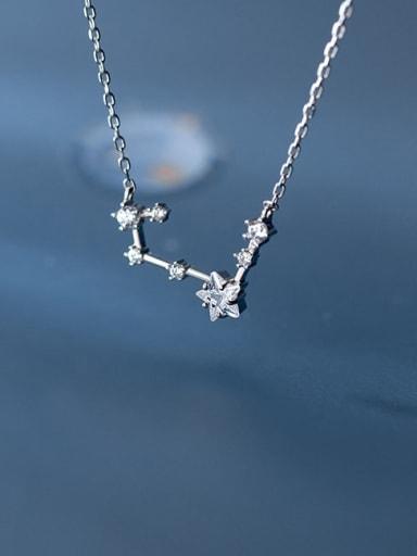 925 Sterling Silver Rhinestone Star Minimalist Necklace
