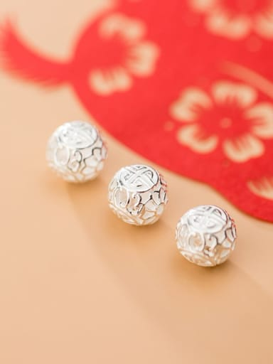 925 Sterling Silver With  Round Handmade DIY Jewelry Accessories