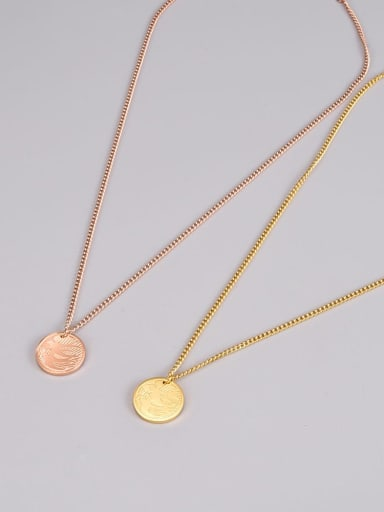 Titanium Steel Round Minimalist Necklace