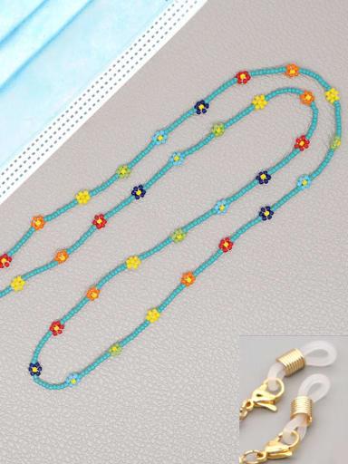 MG N200022E Stainless steel Miyuki Bead Multi Color Flower Bohemia Necklace